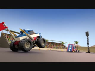 Lego creator 3in1 monster trucks stunt show! - 31085