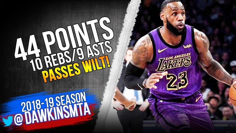 LeBron James Passes Wilt In All-Time Scoring List 2018.11.14 vs Blazers - 44-10-9! | FreeDawkins