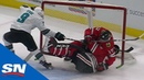 Corey Crawford Leaves Game After Dylan Strome Bulldozes Him Into The Net