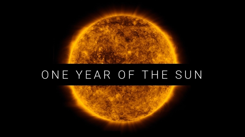 One year Sun time lapse video. View from Space. Sound from Philip Glass.
