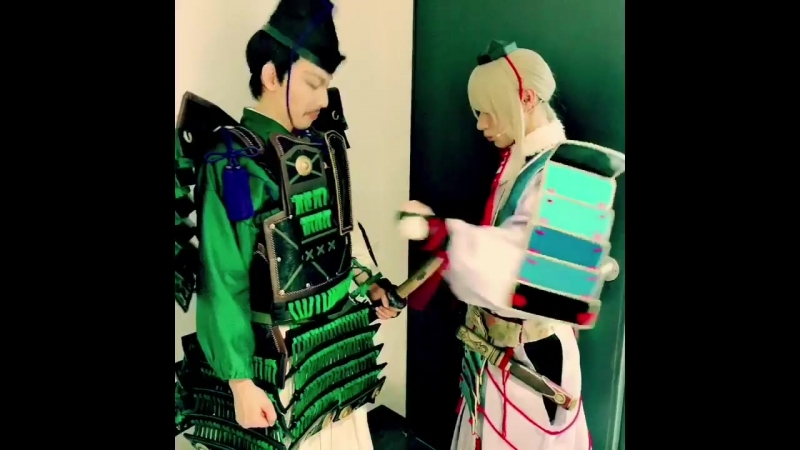 Touken Ranbu backstage from Kako Rion