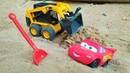 Şimşek McQueen ve Maitre yol yapıyorlar Araba oyunları