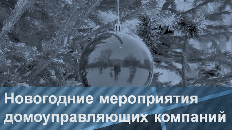 Новогодние мероприятия домоуправляющих компаний