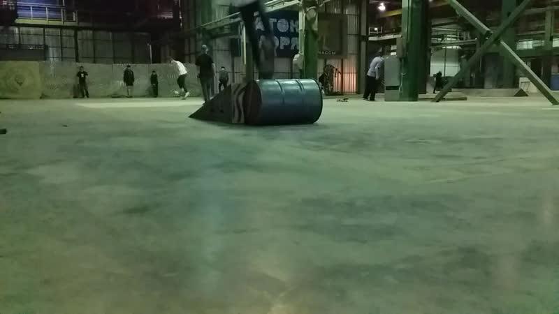 Pop shove it from bank over barrel