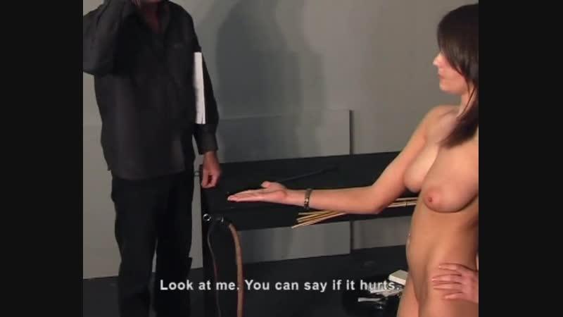 Master of college flogging her palms for naughtiness عميد الكلية يجلدها عارية على ايديها لسلوكها الخليع