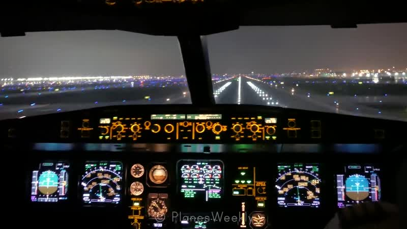 A340 COCKPIT in Chicago Turbulent Approach