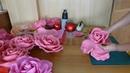 Роза для фотозоны из китайского фома