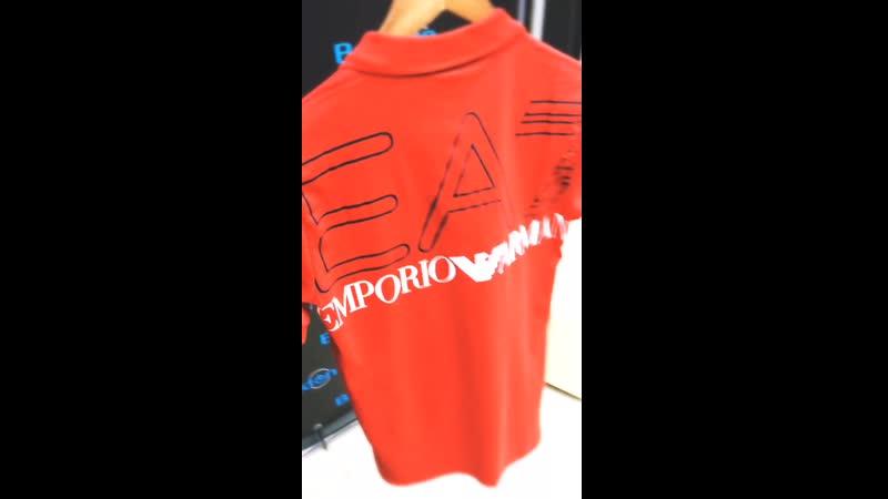 Поло ЕА7(красное)