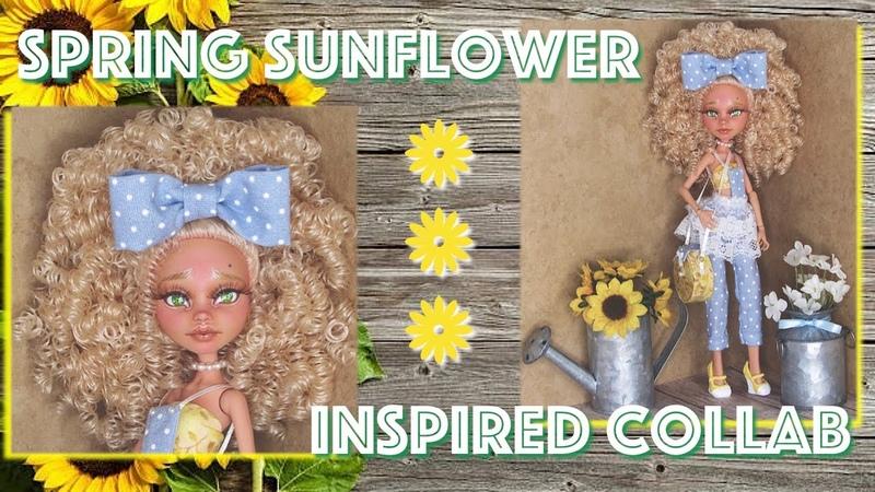 Sunflower Inspired Custom   Doll Repaint   Sunnie Mae   OOAK   Repaint   Art Doll  