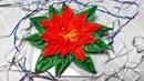 How To Make Artificial Poinsettia - DIY Kanzashi Poinsettia Tutorial