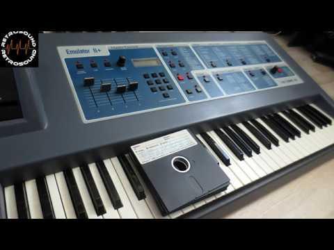 E MU EMULATOR II sampling synthesizer 1984 factory library demo sequences