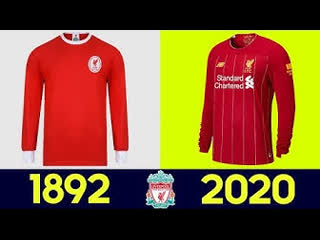 🔥 the evolution of liverpool f.c. football kit | all liverpool f.c. football kits in history 🔥