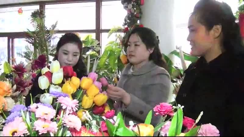 꽃이 안겨주는 기쁨과 정서 력포구역화초사업소 장진꽃상점