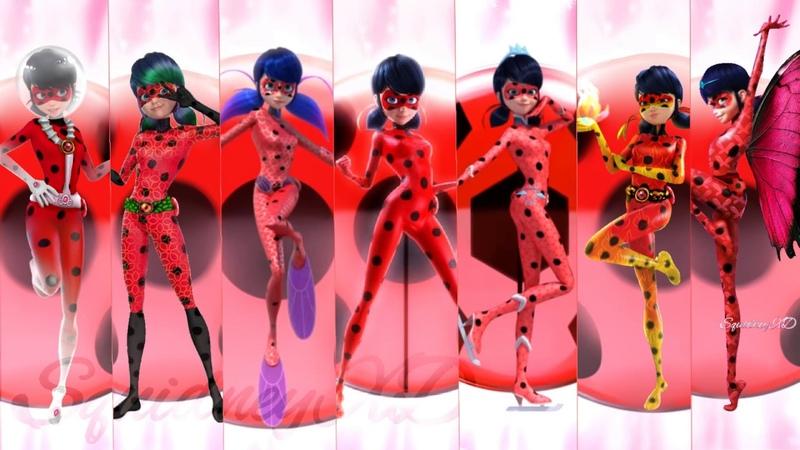 New Ladybug Transformations!! -Miraculous Ladybug Speededit