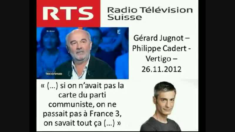 Gérard Jugnot - Si on n'était pas au Parti communiste, on ne passait pas sur France 3