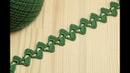 Вязание крючком для начинающих ЛЕНТОЧНОЕ КРУЖЕВО crochet lace