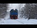 Вихри снега поднимая ТГМ6А 2073 на перегоне Заводская - Обменная ППЖТ ОАО Москокс .