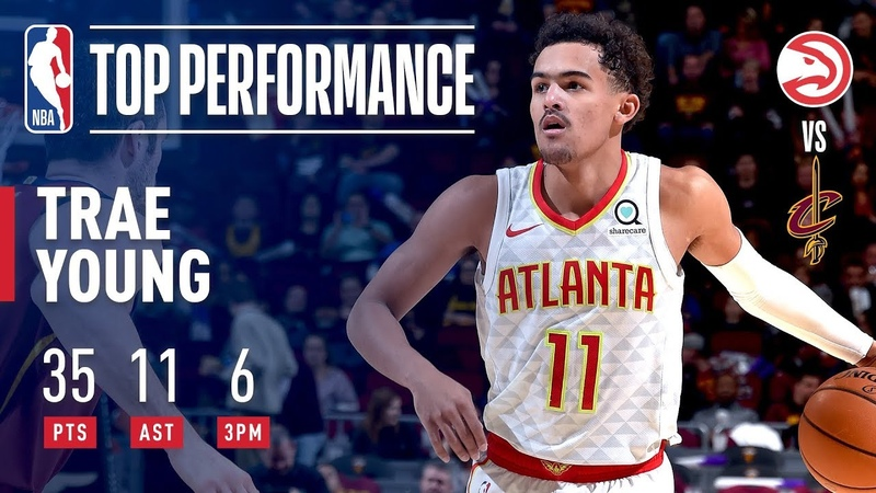 Trae Young Drops 35 11 In Victory Over Cleveland | October 21, 2018 NBANews NBA