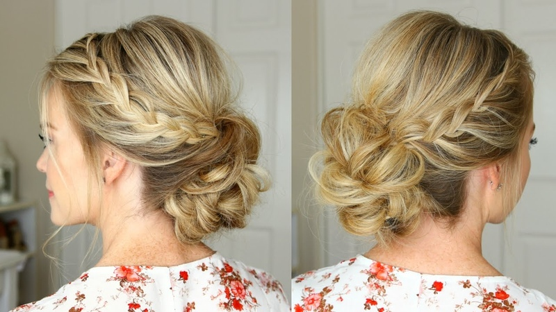 Lace Braid Homecoming Updo   Missy Sue