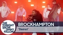 Выступление BROCKHAMPTON с треком «DISTRICT» на шоу Джимми Фэллона
