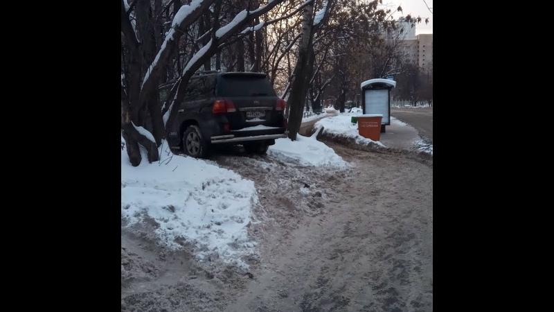 Приложение Помощник Москвы,на газоне (зимой) ,чистый номер