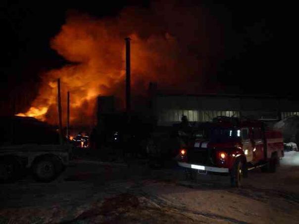 Пожар в промзоне в левобережной части города