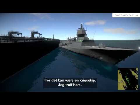 Accident Norwegian frigate collision Helge Ingstad with oil tanker