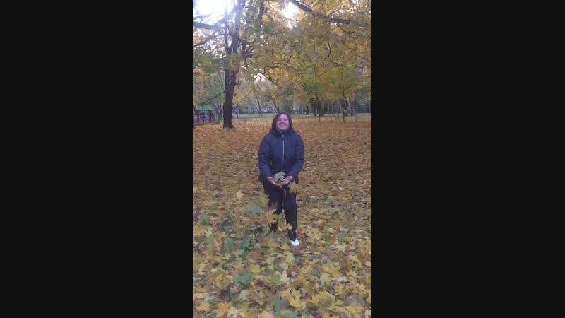Листья падают летят под ногами шелестят