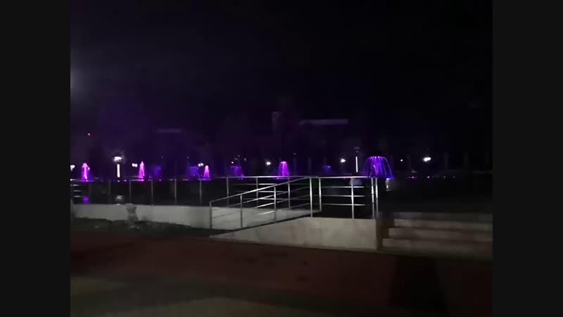 Новый свет-музыкальный фонтан в Олимпийском парке. Адлер, Сочи.