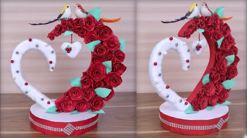 DIY Paper Heart Showpiece || DIY-Gifts Ideas || How to Make Paper Heart Showpiece ||