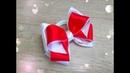 Бантики из атласной ленты 2,5 см.Beautiful bow of satin ribbons .