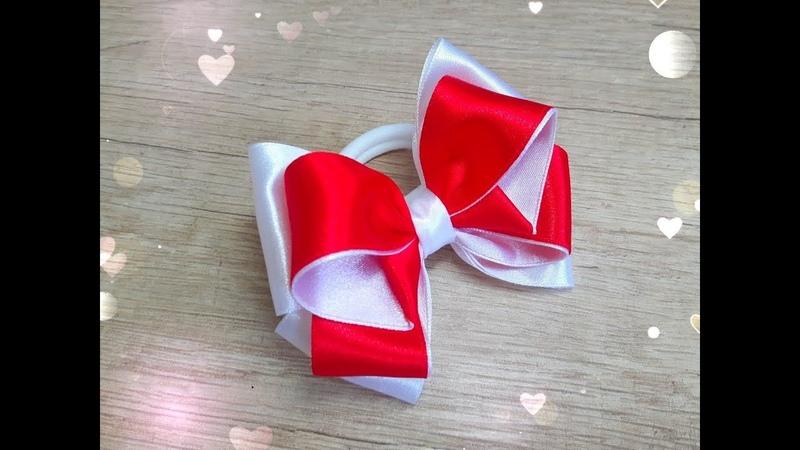 Бантики из атласной ленты 2 5 см Beautiful bow of satin ribbons