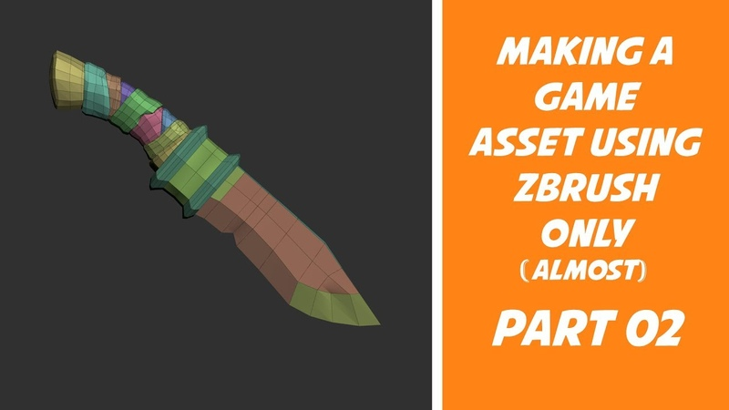 Making a Game Asset using Zbrush - Part 02