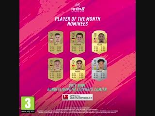 Претенденты на звание лучшего игрока месяца в немецкой Бундеслиге   Октябрь 2018