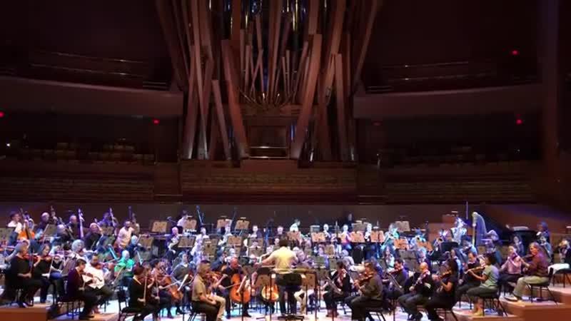 Репетиция с Лос анджелесским филармоническим оркестром и Густаво Дудамелем