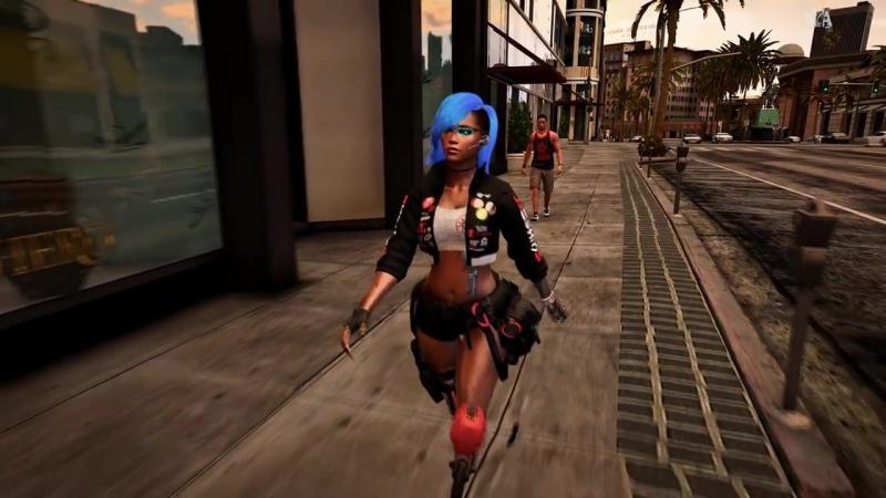 Cyberpunk-esque Custom Female Ped [Grand Theft Auto V] gta 5 mod