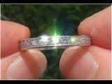 Certified Jewelry VS2G Diamond PLATINUM Eternity Anniversary Engagement Band Estate Ring - C864