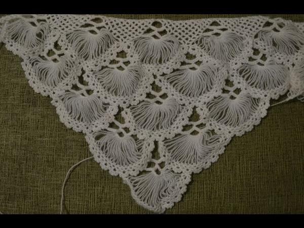 Турецкая шаль, связанная на карточке (Turkish shawl, tied on the card. full version)