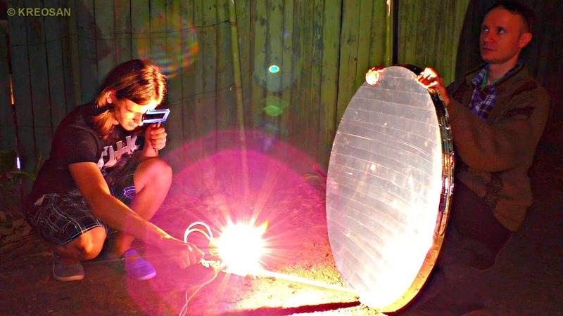 ✅Забацал искусственное Солнце на графитовых стержнях ☀ Дуговой прожектор на 4000 ватт