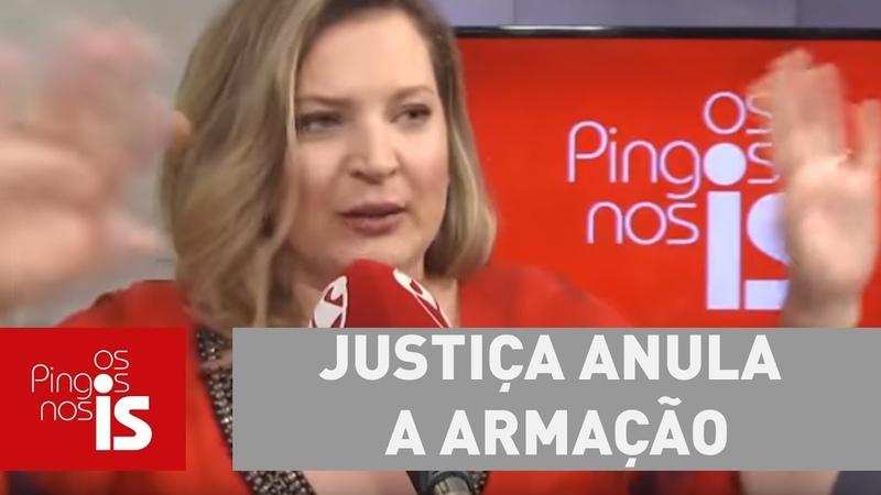 Joice: Justiça anula a armação feita contra mim por sindicato vermelho