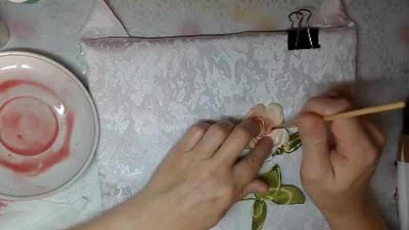 Как тонировать красками готовую работу How to tint with paints the finished work 刺绣如何色彩涂料的完成工作 - YouTube