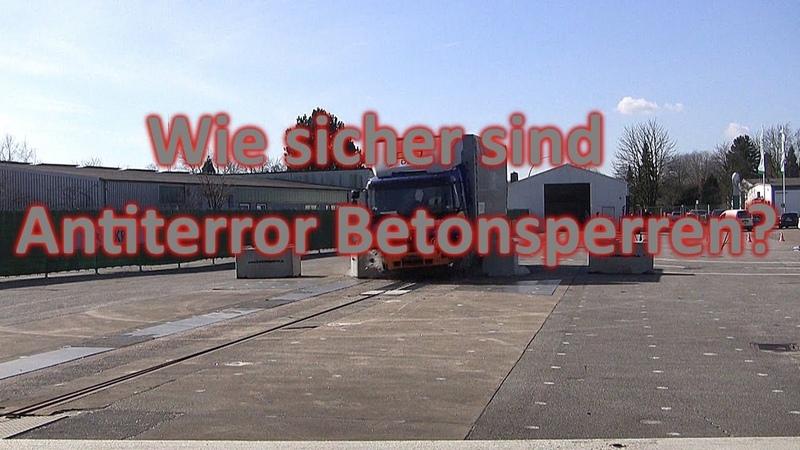 Неэффективность антитеррористических барьеров в Германии