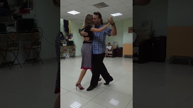 Alex Vitaly Maria Vlady. Tango class resume 01.10.18. Variations with giros and sacadas