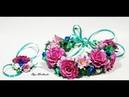 Летний веночек с цветами из фоамирана.