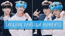 Subtle touches and glances taekook moments 190421 aladin fansign