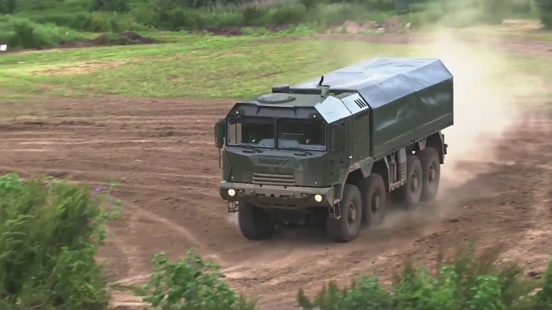VOLATs live demonstration at Eurosatory-2016 an exciting show by tactical vehicle MZKT-600203