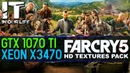 FAR CRY 5 HD TEXTURES PACK /Xeon x3470 /GTX 1070 ti /benchmark /gameplay test /1080p