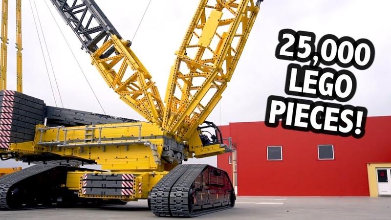 Huge LEGO Technic Crane – 4.5m14.5 Feet Tall!