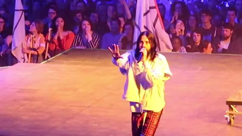 21 03 2018 Dangerous Night Thirty Seconds To Mars Lotto Arena Антверпен Бельгия TheMonolithTour2018