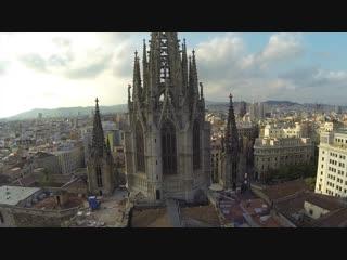 С высоты полета дрона_ Барселона